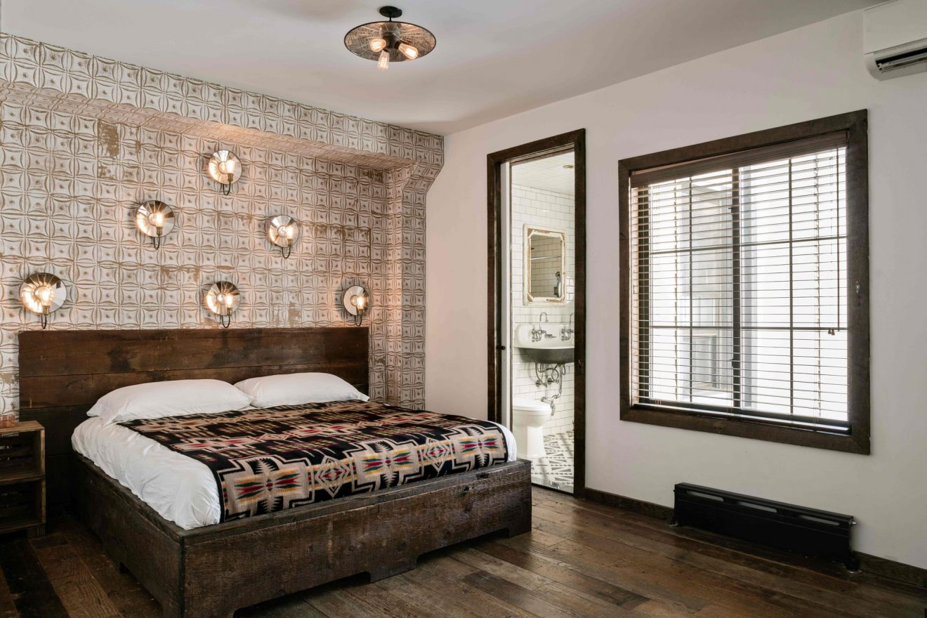Urban Cowboy Brooklyn Private Townhouse Queen Bedroom Two