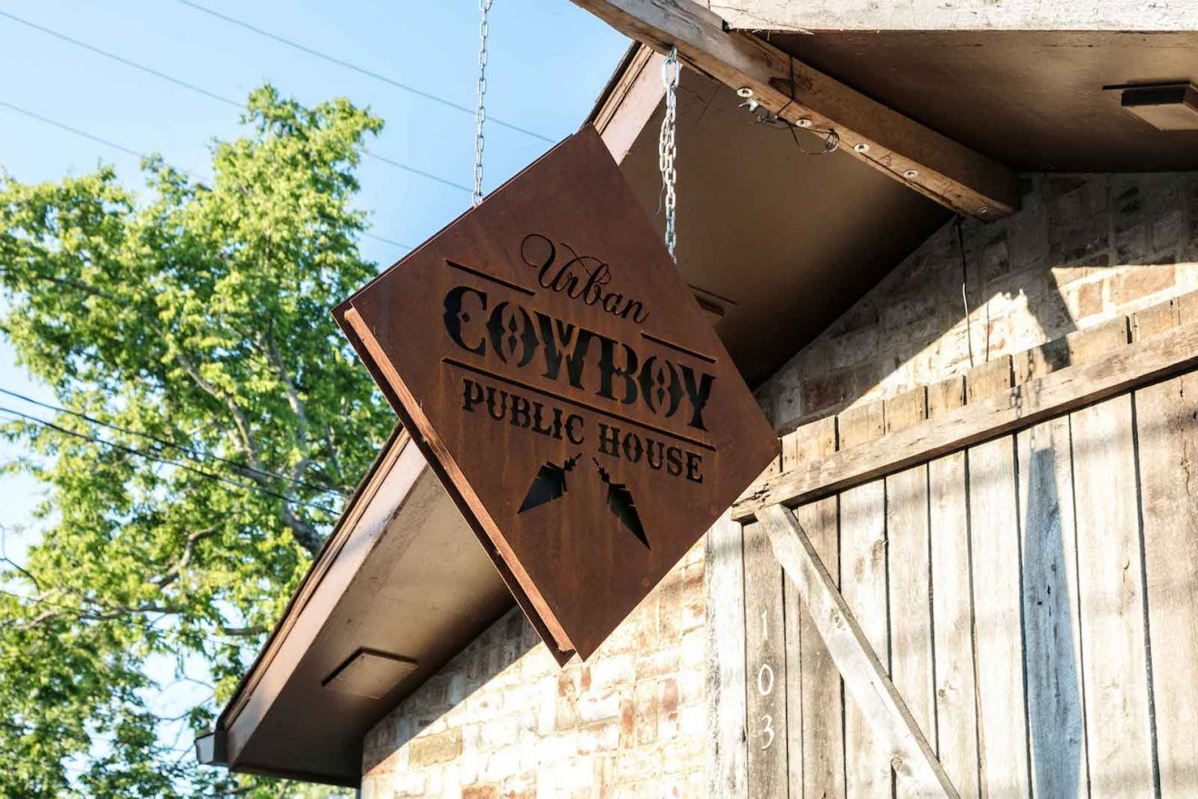 Urban Cowboy Nashville Public House Diamond Sign